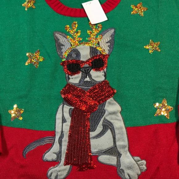 French Bulldog Christmas Jumper.French Bulldog Christmas Sweater Nwt